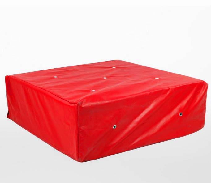 Large red cellar drop mats