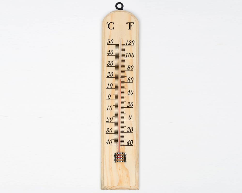 Wooden Wall Thermometer